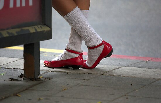 Red shoes by JudyBJ