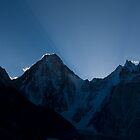 Sunrise behind Gasherbrum IV by fineartphotos
