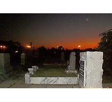 Cemetey at Dusk in New Orleans Photographic Print