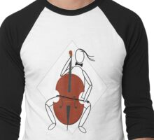 celloish - from the word cello meaning between the knees Men's Baseball ¾ T-Shirt