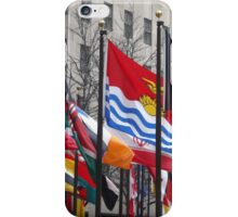 Colorful Flags, Rockefeller Center, New York City iPhone Case/Skin
