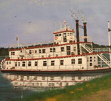Mississippi River boat by cdcantrell