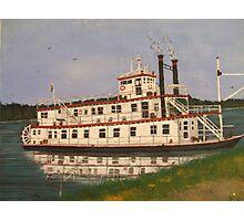 Mississippi River boat Photographic Print