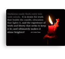 The illumination of Wisdom Canvas Print