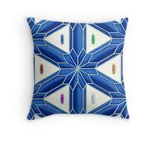 Rupee Stars - Blue Rupees Throw Pillow