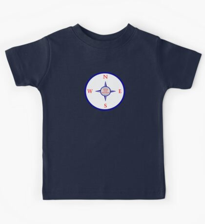 Never Stop Exploring (Blue edition) Kids Tee