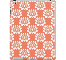 Waratah repeat on peach iPad Case/Skin
