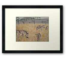Zebras on the African Plains Framed Print
