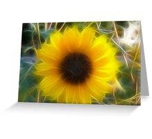 Fractalius Sunflower Greeting Card