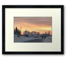 Two Farmers or Valentine in country Framed Print