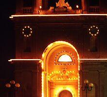 Lights of Marsaxlokk Parish Church by George Parapadakis (monocotylidono)