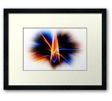 EXPLOSIVE FLAME Framed Print