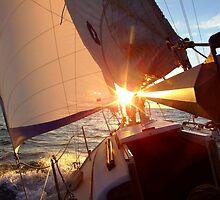 Sunset Sail by ChuckD