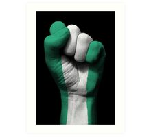 Flag of Nigeria on a Raised Clenched Fist  Art Print