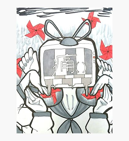 TV Head SAD Photographic Print