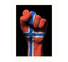 Flag of Norway on a Raised Clenched Fist  Art Print
