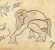 Tarzan Jane´s Sketch. by Eduardo Suñer
