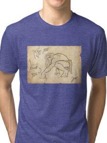 Tarzan Jane´s Sketch. Tri-blend T-Shirt