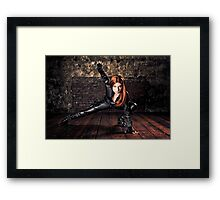 Tanya Wheelock as Black Widow (Photography by Sean William / Dragon Ink Photography) Framed Print
