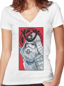 Samurai Trooper Women's Fitted V-Neck T-Shirt