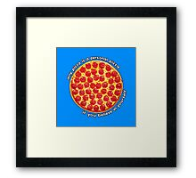 Personal Pizza Framed Print