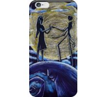 Jack and Sally in the Moon iPhone Case/Skin