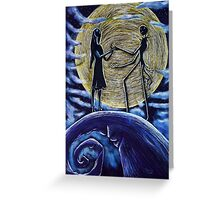 Jack and Sally in the Moon Greeting Card