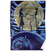 Jack and Sally in the Moon Poster
