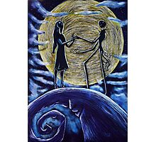 Jack and Sally in the Moon Photographic Print