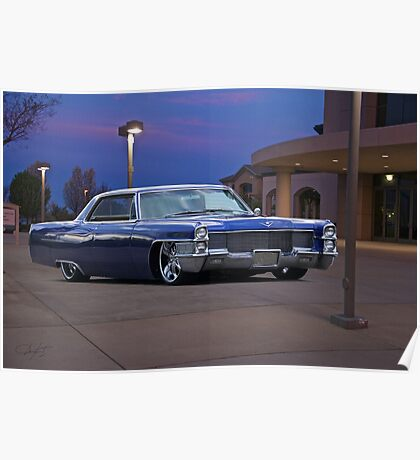 1965 Cadillac Coupe De Ville 'Low Rider' Custom Poster