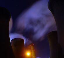Eggborough at night Two by RichardJohns