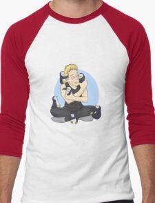 The Penguin and his Penguins Men's Baseball ¾ T-Shirt