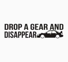 """Drop a gear and disappear"" - Subaru WRX STI Kids Tee"