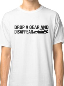 """Drop a gear and disappear"" - Subaru WRX STI Classic T-Shirt"