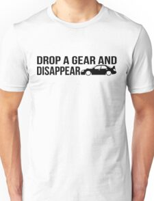 """Drop a gear and disappear"" - Subaru WRX STI Unisex T-Shirt"