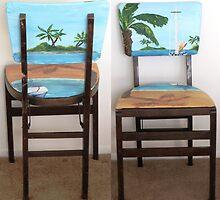Folding Chairs I by WhiteDove Studio kj gordon