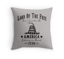 LAND OF THE FREE DON'T TREAD ON ME Throw Pillow