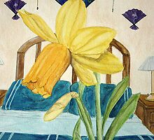 Jonquil In a Blue Room by Heather D. Oliver