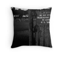 Boat Club to Nowhere Throw Pillow