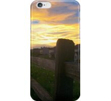 The barren fence iPhone Case/Skin