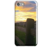 The barren fence iPhone Case/Skin