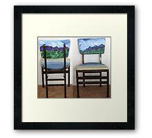 Folding Chairs III Framed Print