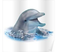 Happy Dolphin Poster