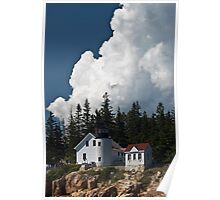 Bass Harbor Head Light from the water Poster