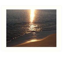 Sunset at Panama City Beach Art Print