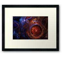 """Fractal Flame Art: """"Embryo"""" Framed Print"""
