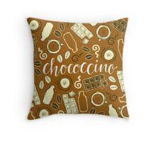 Chococcino Throw Pillow