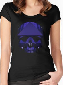 Crystal Skull (including tessellations) Women's Fitted Scoop T-Shirt