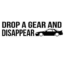 """""""Drop a gear and disappear"""" - Nissan R32 Skyline Photographic Print"""