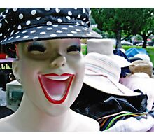 Hat Face Photographic Print